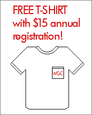 Free T-shirt with $15 annual registration!